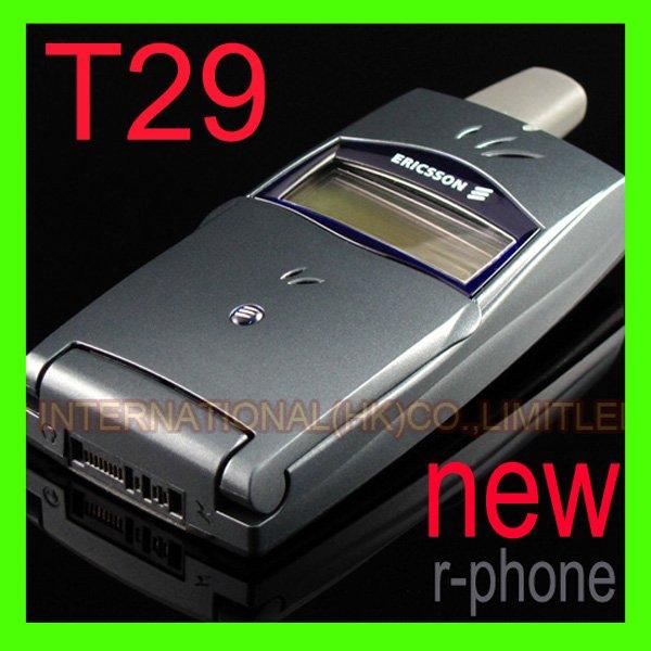 Refurbished One year warranty Free Shipping Original 2G GSM 900/1800 Unlocked Ericsson T29 Mobile Cell Phone dark blue(China (Mainland))