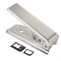 Stainless Steel Nano Sim Card Cutter with Adapter Convertor for iPhone 5 5G, 40pcs/lot , Free Shipping