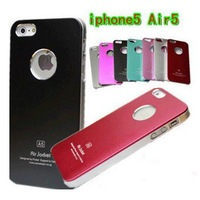 Wholesale Slim Thin Air Jacket Metal Aluminum Hard Case Cover For iPhone 5 5G With Retail Packing 50pcs/Lot EMS Free Shipping