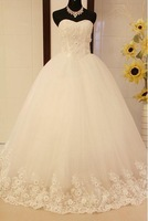 New Arrival Wedding dress curved tube top flower rhinestone sweet luxucy Wedding dress actual images  Wedding gown