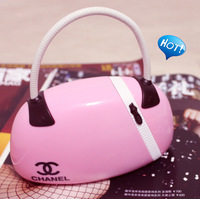 Fashion bags charge lamp reading light eye mini bedside bags lamp lather-bag 250