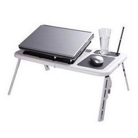 Desktop household portable folding multifunctional bed laptop table 2 fan cooling table 1.6