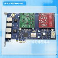 Free shipping Asterisk TrixBOX IP-PBX ZAPTEL AEX410 PCI Express card 4 FXS/FXO module