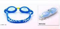 Child  UV swimming glasses PC mirror Silicone Antifogging waterproof 12 pieces/lot