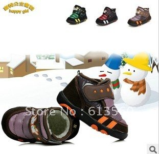 Free Shipping 2013 new foreign trade infant winter thick warm cute shoes Mianxie Wenzhou shoes a073 ok(China (Mainland))