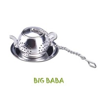 Wholesale fashion stainless steel tea pot tea strainer tea filter tea infuser High quality Free shipping TS018