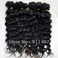 "10-24"" deep wave 100% human hair malaysion remy hair weave top quality DHL free shipping in stock"