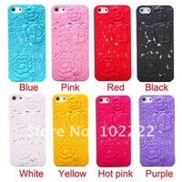 Fashin Cute Fox Flower Silicone Skin Case Cover For iPhone 5 5G, 200pcs/lot, DHL free shipping