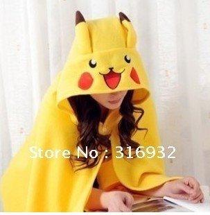 Fashional and cute Pikachuu Plush Soft Cloak, 1pc