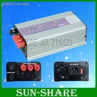 free shipping!  300w on grid solar inverter input  DC10.8V-30V /DC 22V-60V,output.AC 90V-140V,190V-260V