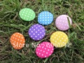 Set of 100 pcs handmade Cotton Fabric Covered Buttons,polk dot buttons,mix colors