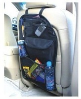Car Multi Back Seat Pocket Storage Organiser FCB Bag ,free shipping,BLACK 1Lot=23.99USD