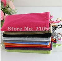 300pcs/lots Soft Pouch Bag for iPhone 3g 3gs 4g 4gs 5g/cell phone ,high quality +free shipping