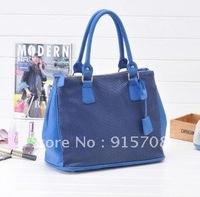 Free shipping!Korean version of the 2012 new tide crocodile pattern retro casual documents handbag shoulder bag Messenger bag