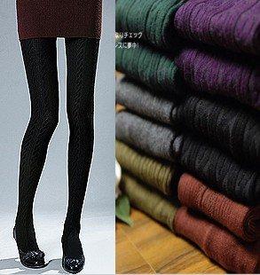 South Korea sells fashionable twist pinstripe panty hose/show thin even socks feet/twist socks A968(China (Mainland))