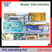 hot stamping foil for credit card