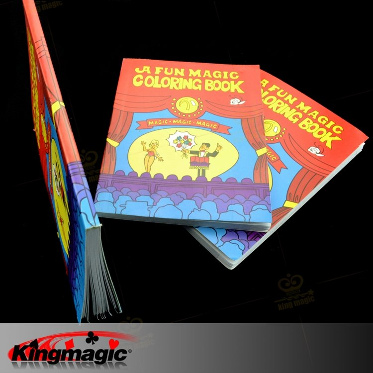 Holiday Sales Coloring cartoon book magic, 28*20*0.6cm size, Magic Book, Multicolour book, child magic props, Free shipping(China (Mainland))