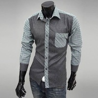 Best Design Brand New Mens Casual Shirts Slim Fit Stylish Dress Shirts Size:M-L-XL-XXL
