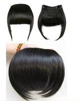 clip in human hair  fringe #1b natural black human clip on hair bang