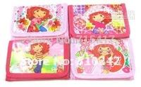 Free Shipping.Wholesale Fashion Cartoon Strawberry Shortcake Coin Purses Variety of optional 24pcs/lot
