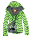 free shipping 2013 New Arrival womens snowboarding jet jacket ladies ski clothes ski suit tops girls anorak skiwear green XS~L