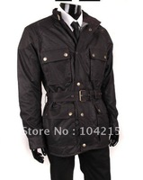 Free Shipping Fashion Men's Winter Jacket  Mens Motocycle Jackets, wax cotton Jackets Waterproof, Windproof