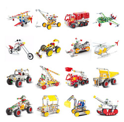 Metal children DIY Kart model toy, High-quality design combined racing car, kids educational model assembling + free shipping(China (Mainland))