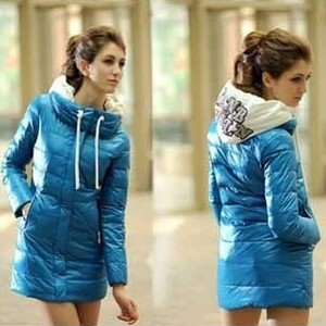New Arrival winter long design slim Down & Parkas cotton-padded jacket with  hood women winter outerwear