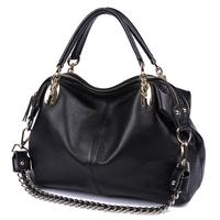 2012 hot sall! free shipping! women's cowhide chain casual bag one shoulder cross-body genuine leatherhandbag 302