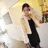Free shipping   slim elegant long-sleeve fur coat short design fur outerwear