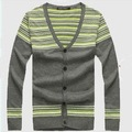 Autumn and winter jacquard sweater fashion v-neck long sleeve nice designer casual cardigan men T-shirt plus size  MS1730