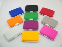 Factory directly sale5pcs/lot  new design silica gel plain face credit wallet (10 colors avaliable)  credit card holder cases