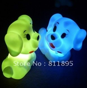 Christmas gifts Free shipping! Pet dog small night light colorful small night light led night light-up toy