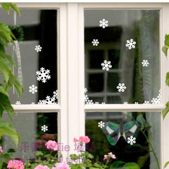 Free shipping decorative Wall stickers/sticker cabinet window glass sliding door Christmas romance shop window decoration gifts
