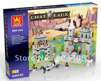 Educational  toy, Building Bricks, Block Toys,castle series,Free shipping