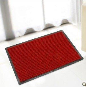 Upset compound double stripe PVC mat dust mat moisture absorption mat porch pad