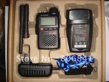 Dual Band Dual display UV 3R Walkie Talkie UHF+VHF 3W 99CH 1500mA Li-ion Portable handheld Two stage Two Way Radio 3km