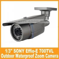 Waterproof Outdoor Surveillance Zoom Camera Security 1/3Sony 700tvl  Efiio-e OSD 2.8-12mm