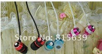 Free Shipping 20pcs/lot High-grade all-metal-ear Earphone For MP3 ipod Touch IPad shuffle with two extra rubber eartips