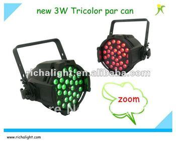 Newest led zoom 3W tricolor par cans stage light