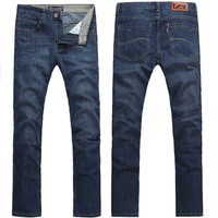 Free Shipping 2013 High Quality Cotton Brand Jeans for Men Slim Fit Men's Trousers Pants wholesale and retail blue