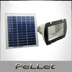 Free shipping Solar Flood Light,Billboard lights,Without battery,54LED ,10W solar Panel(China (Mainland))