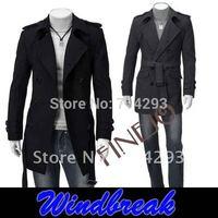 Overcoat Autumn new windbreaker men's jacket single breasted coat M L XL XXL free shopping 3387
