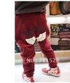 2012 Winter boys girls pants trousers kids Angel Wing thicken pants 5pcs/lot 3colors free ship 650063J