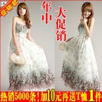New arrival 2014 Bohemia one-piece dress summer chiffon beach dress party sexy dress free shipping