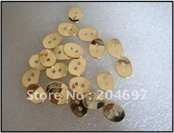100pcs Gold Plated Oval Alloy Button Clasp Metal Jewelry Finding Beads For Wrap Leather Bracelet(China (Mainland))
