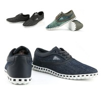 Mens Fashion Slip On Canvas Sneakers Lace Up Flats Shoes Leisure Loafers Preppy