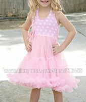wholesale petti dress girls baby toddler pink white polka dot tutus pettiskirts Princess dresses petticoat free shipping