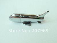 Wholesale retail metal aircraft Usb Flash Memory truly full 4gb/8gb/16gb/32gb Usb Flash Disk free shipping