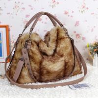 2012 women's handbag bag fur bags velvet bag shoulder bag cross-body